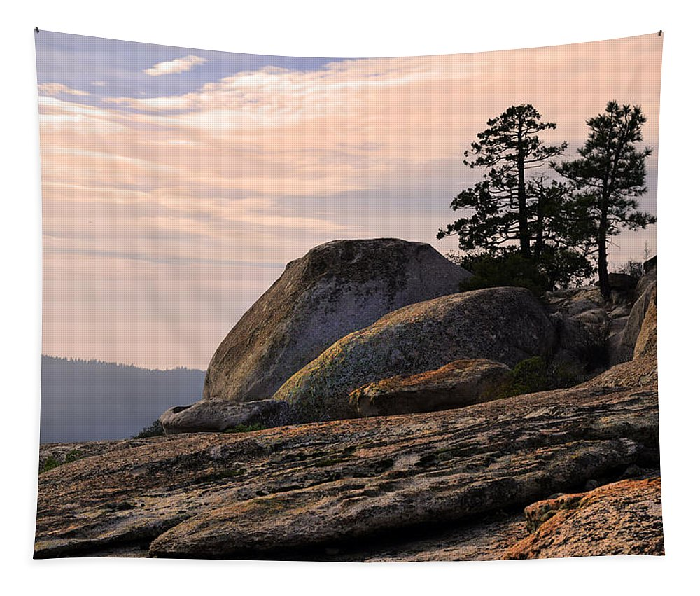 Bald Rock Dome Tapestry featuring the photograph Carved Granite by Frank Wilson