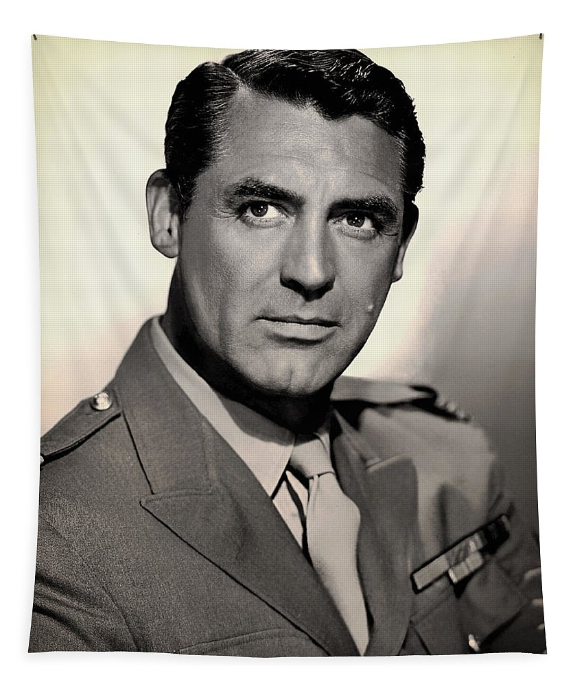 Cary Grant Tapestry featuring the photograph Cary Grant by Mountain Dreams