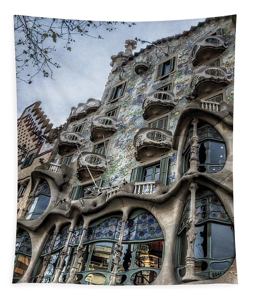 Joan Carroll Tapestry featuring the photograph Fabulous Facade by Joan Carroll