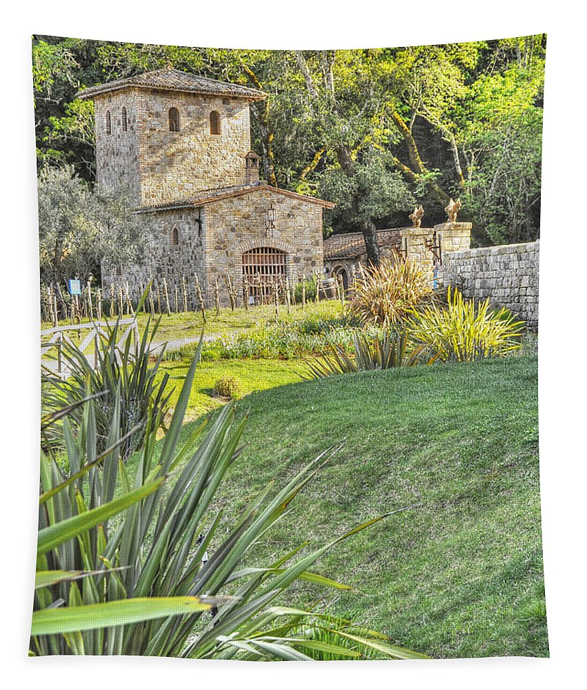 Wendyelliottphotography Tapestry featuring the photograph Castle Gate House by Wendy Elliott