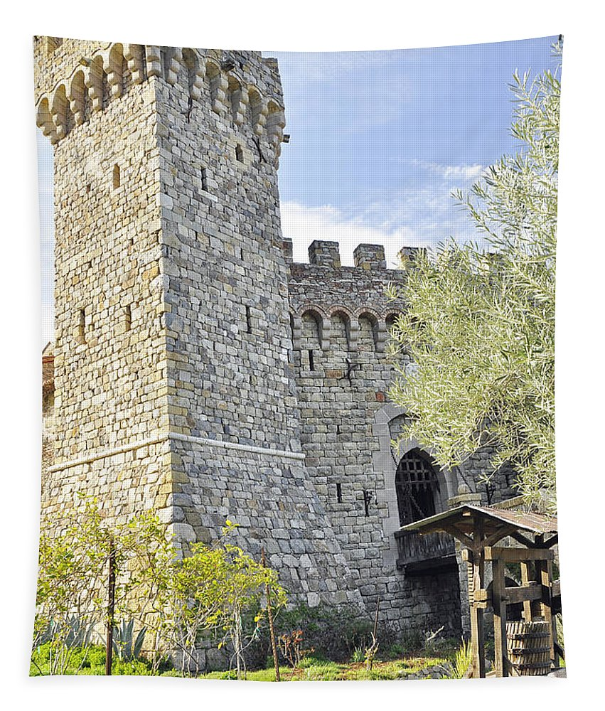 Wendyelliottphotography Tapestry featuring the photograph Castle In Spring by Wendy Elliott