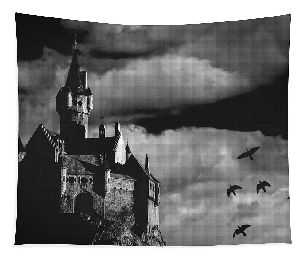 Building Tapestry featuring the photograph Castle In The Sky by Bob Orsillo