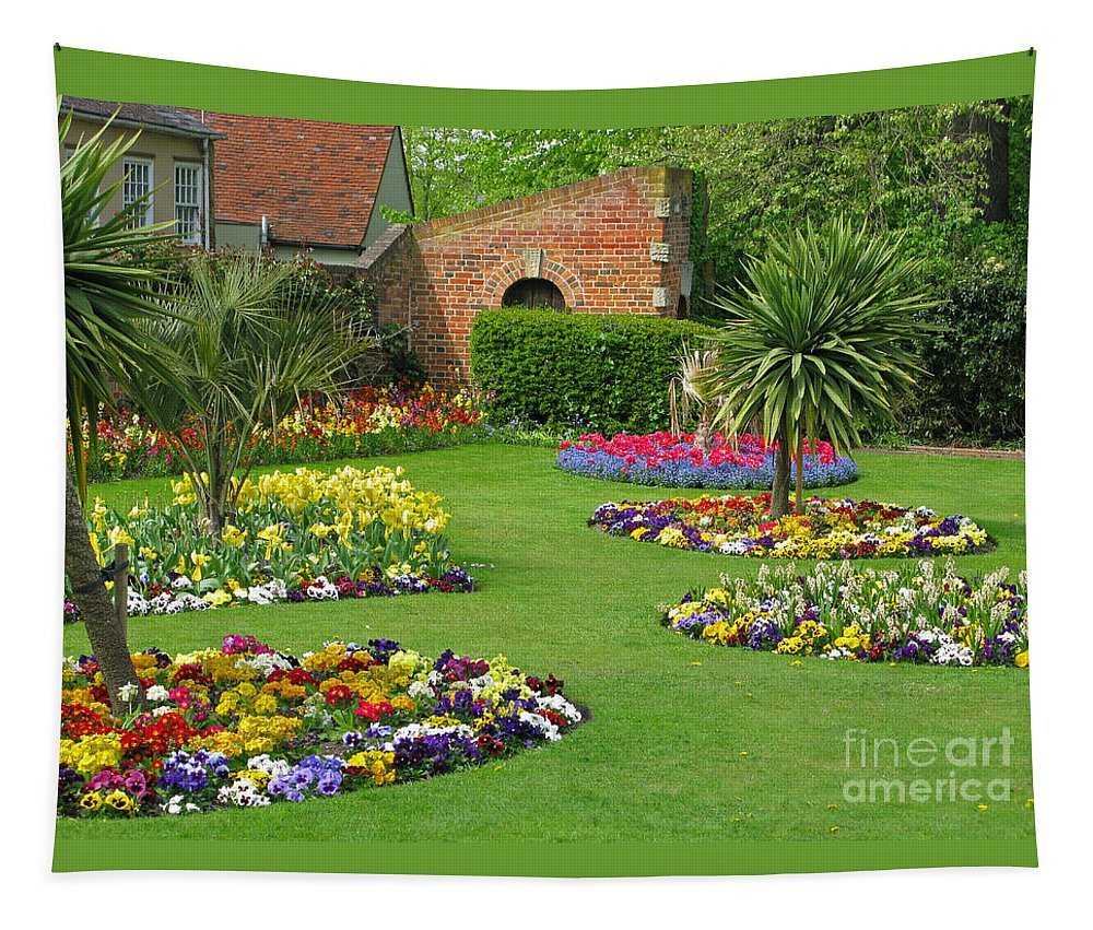 Garden Tapestry featuring the photograph Castle Park Gardens by Ann Horn