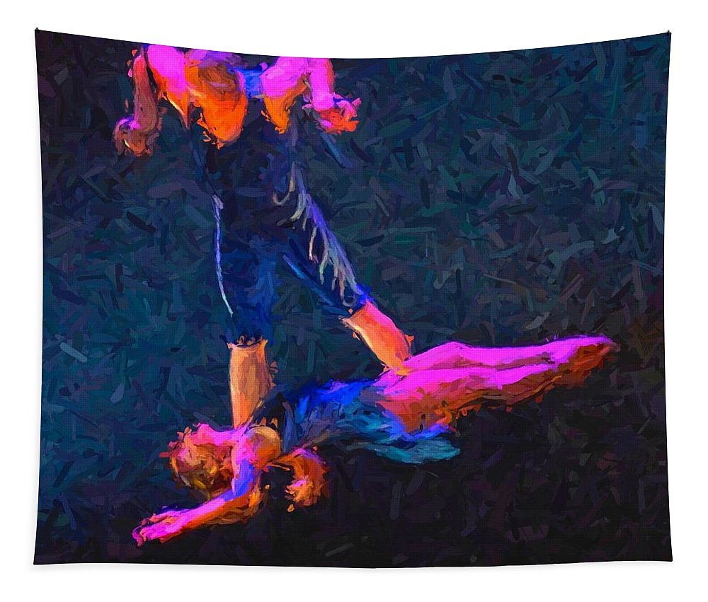 Circus Act Tapestry featuring the photograph Catch by Alice Gipson