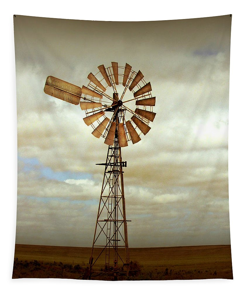 Windmill Tapestry featuring the photograph Catch the Wind by Holly Kempe
