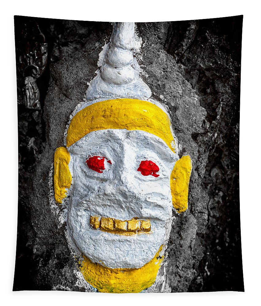 Hdr Tapestry featuring the photograph Cave Face 4 by Adrian Evans