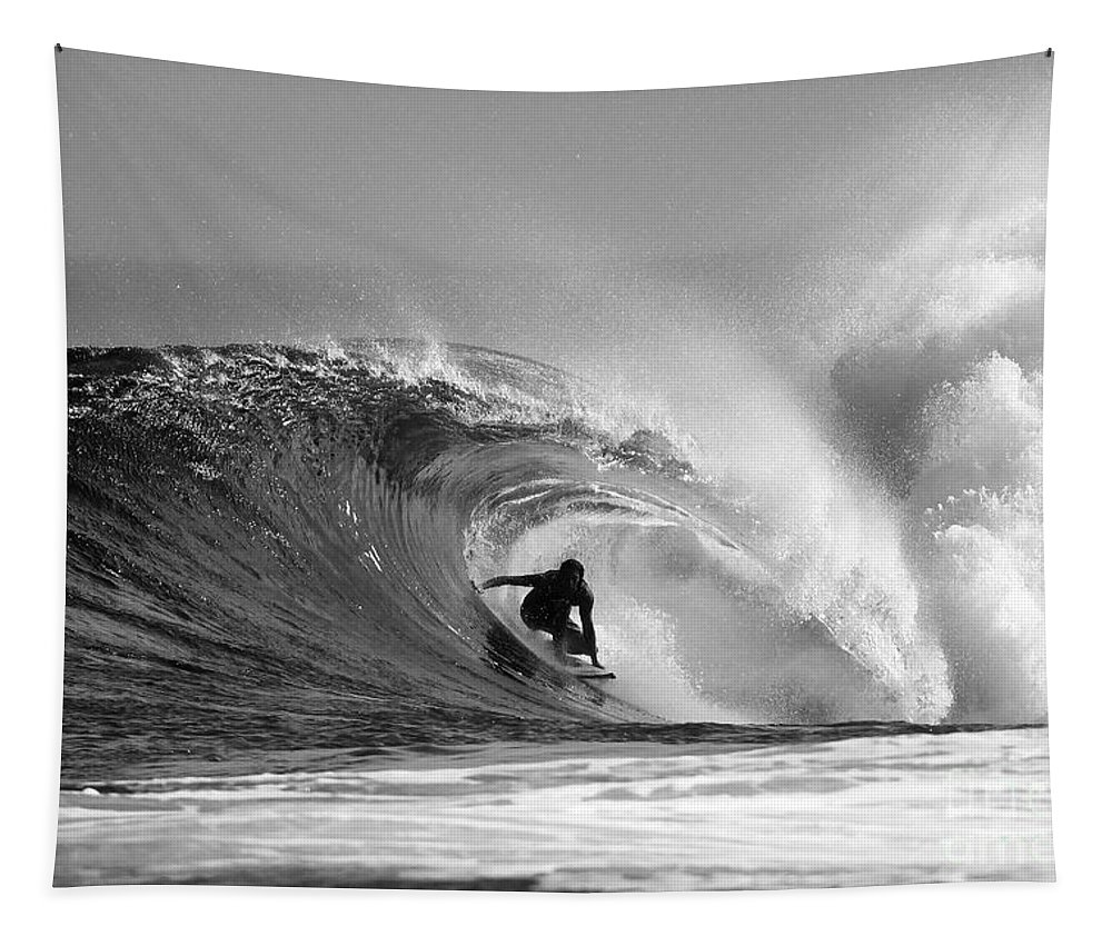 Surf Tapestry featuring the photograph Caveman by Paul Topp