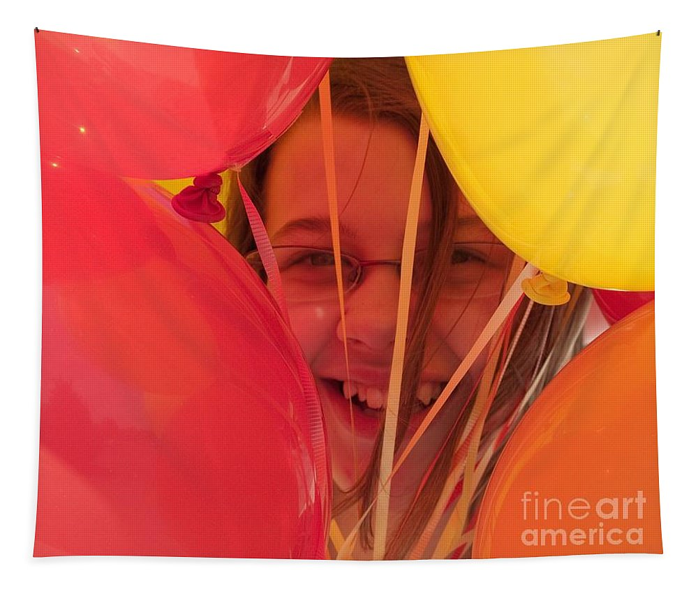Balloons Tapestry featuring the photograph Celebrating by Ann Horn