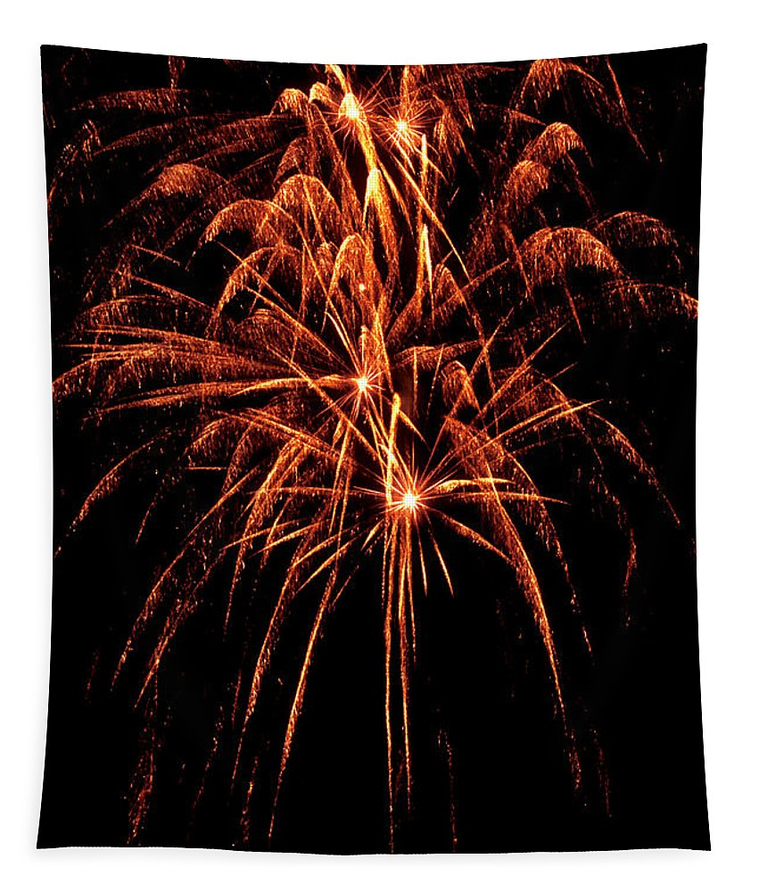 Fireworks Tapestry featuring the photograph Celebration - 050 by Paul W Faust - Impressions of Light