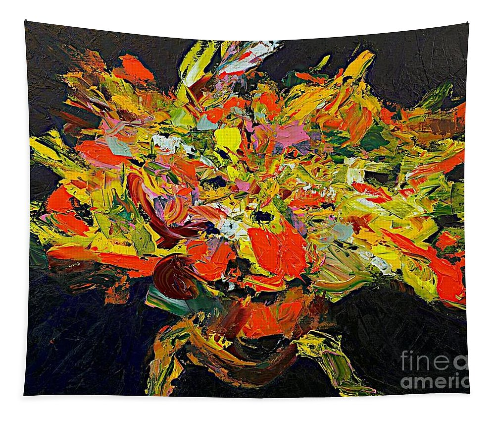 Landscape Tapestry featuring the painting Celebration by Allan P Friedlander