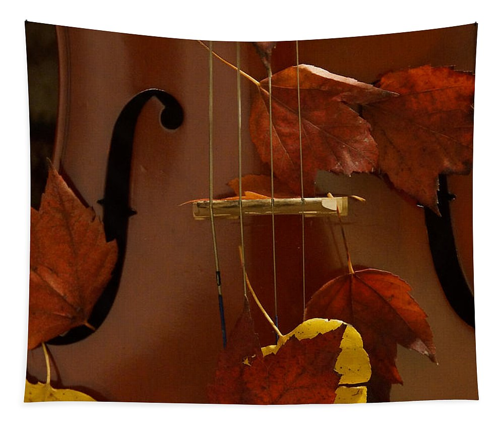 Cello Tapestry featuring the photograph Cello Autumn 4 by Mick Anderson