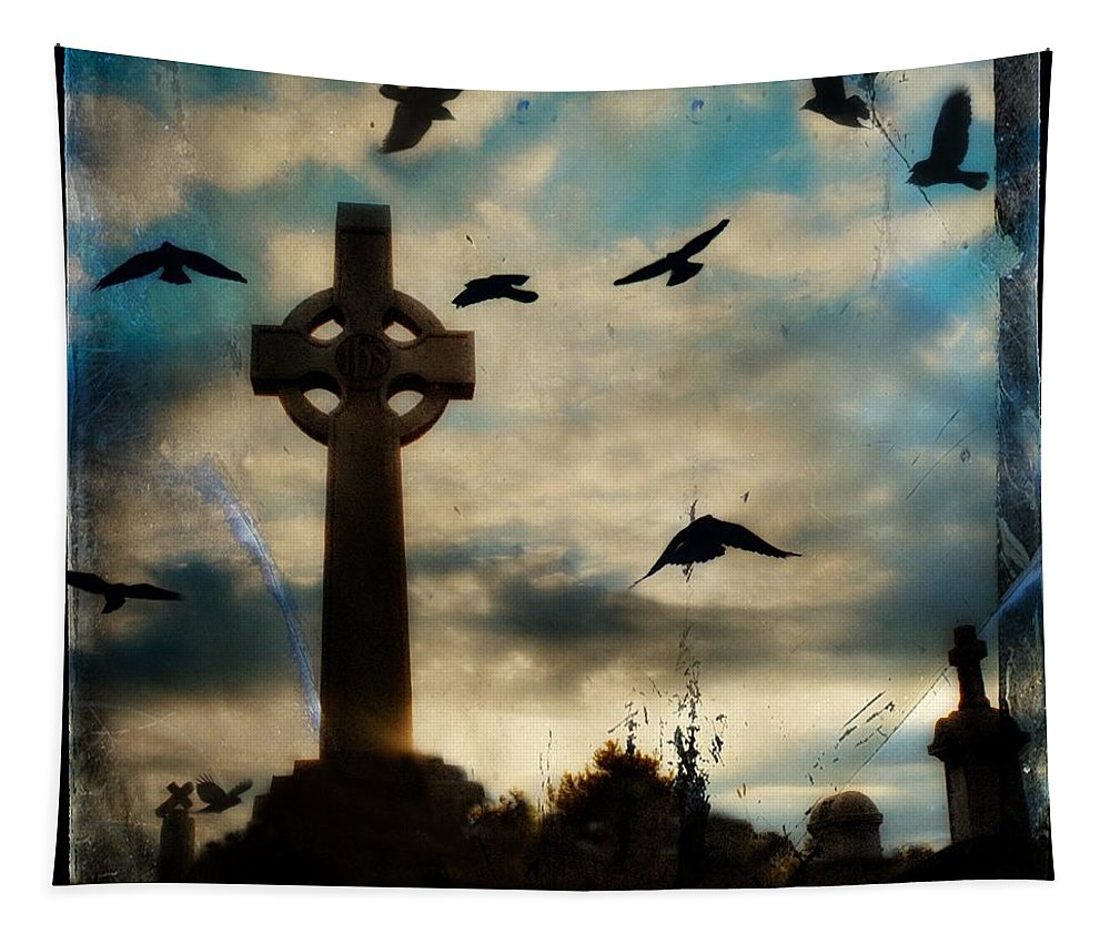 Surreal Tapestry featuring the photograph Celtic Blue by Gothicrow Images