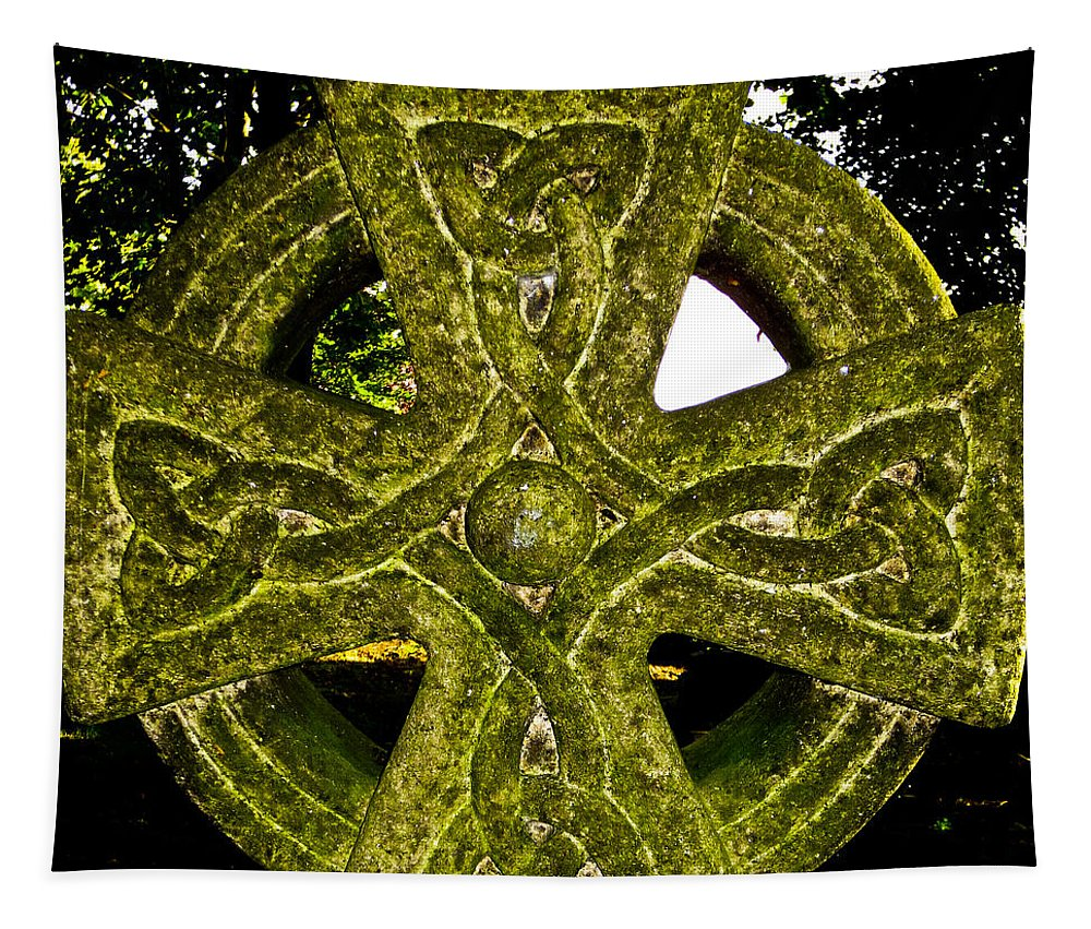 Celtic Tapestry featuring the photograph Celtic Cross by David Pyatt