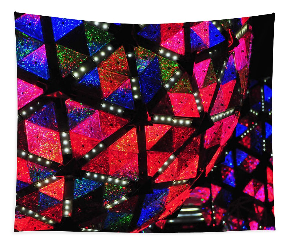 New Year's Eve Tapestry featuring the photograph Centennial New Year's Eve Ball by Mike Martin