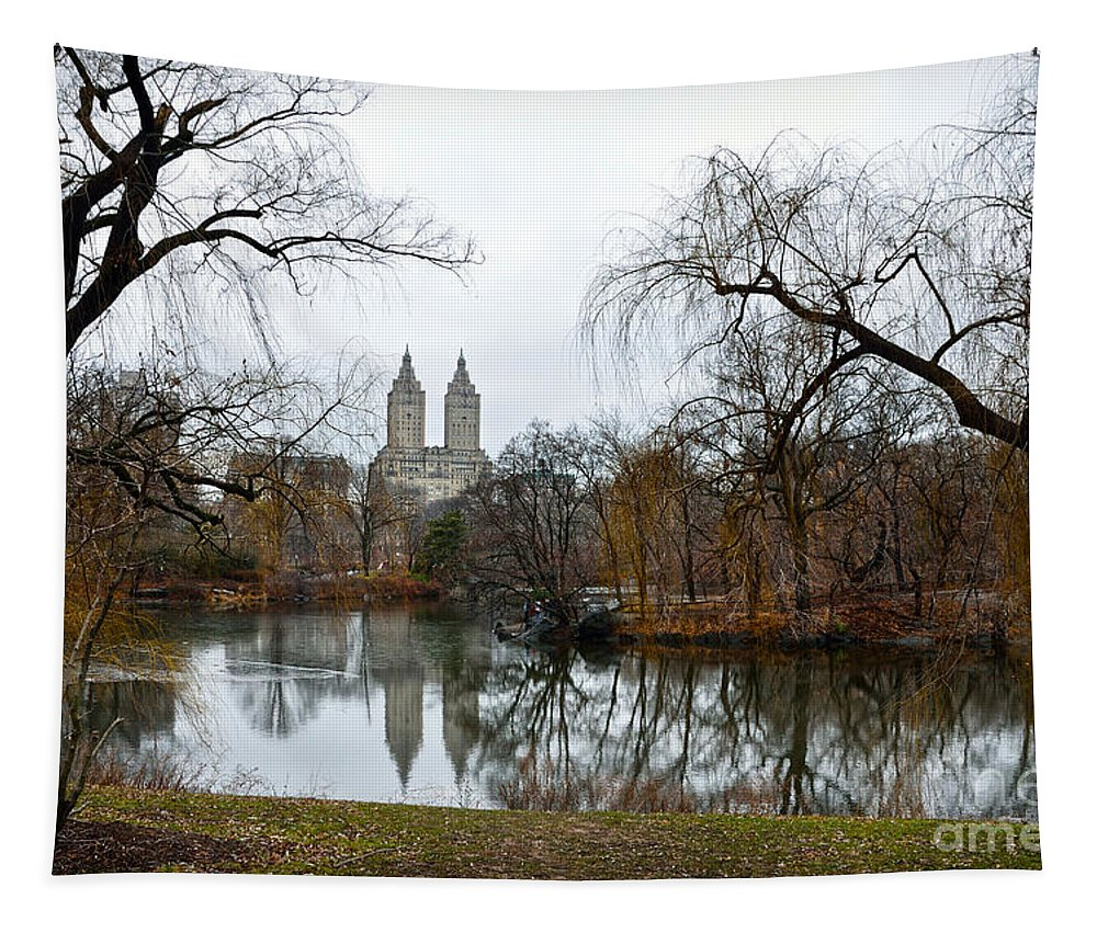 San Remo Tapestry featuring the photograph Central Park And San Remo Building In The Background by RicardMN Photography