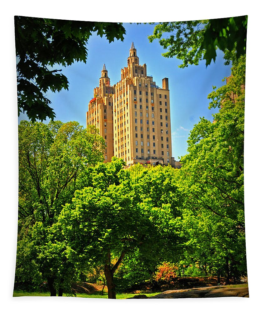 Park Tapestry featuring the photograph Central Park by Mike Martin