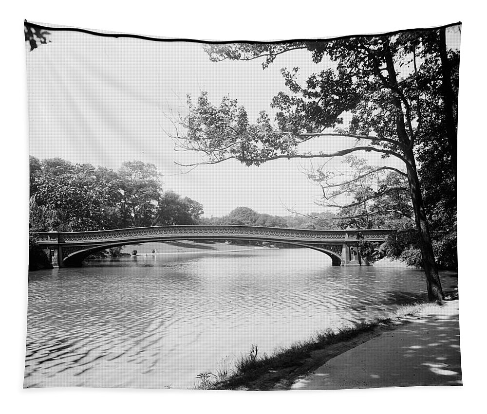 Central Tapestry featuring the photograph Central Park The Lake by Bill Cannon