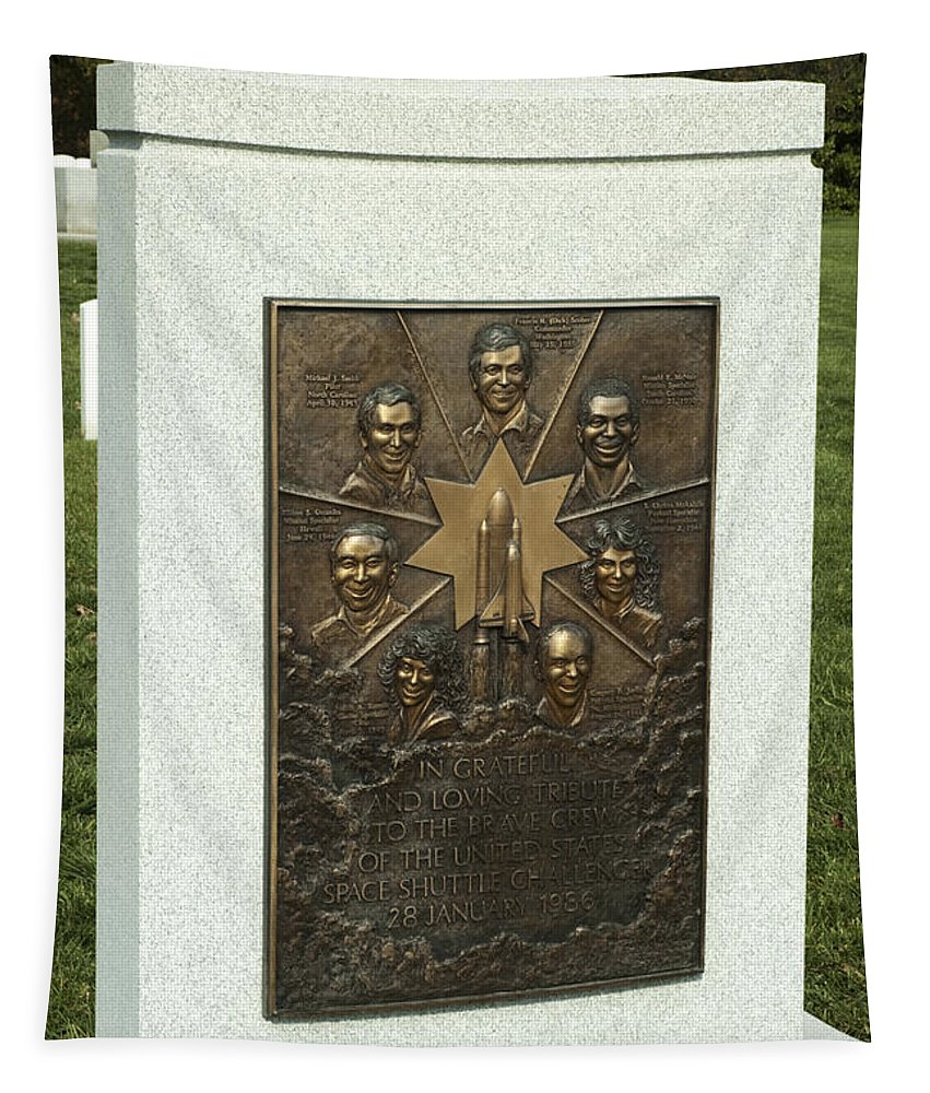 Nasa Tapestry featuring the photograph Challenger Monument by Paul W Faust - Impressions of Light