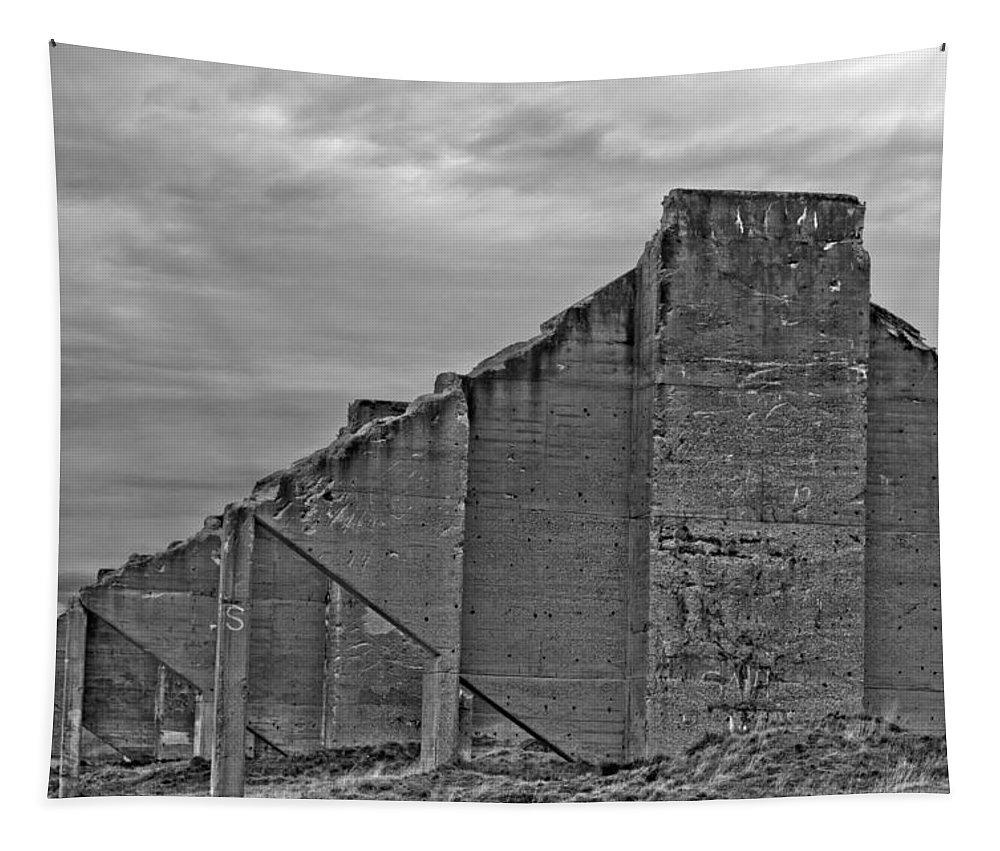 Chambers Bay Tapestry featuring the photograph Chambers Bay Architectural Ruins II by Tikvah's Hope