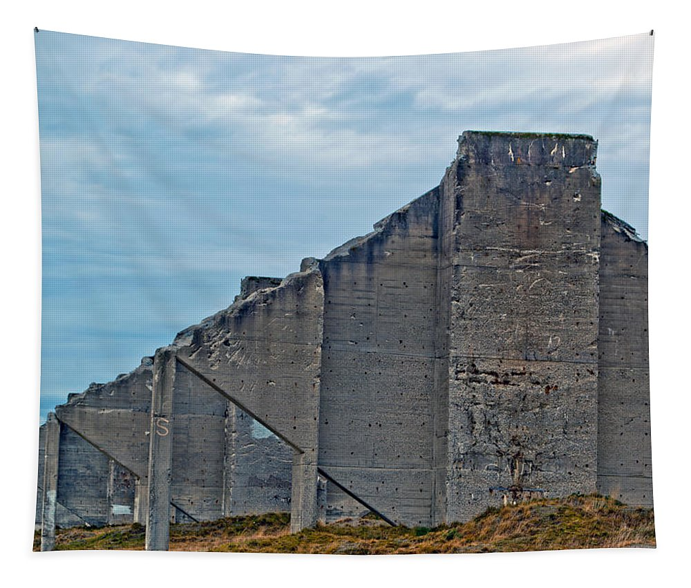 Chambers Bay Tapestry featuring the photograph Chambers Bay Architectural Ruins by Tikvah's Hope