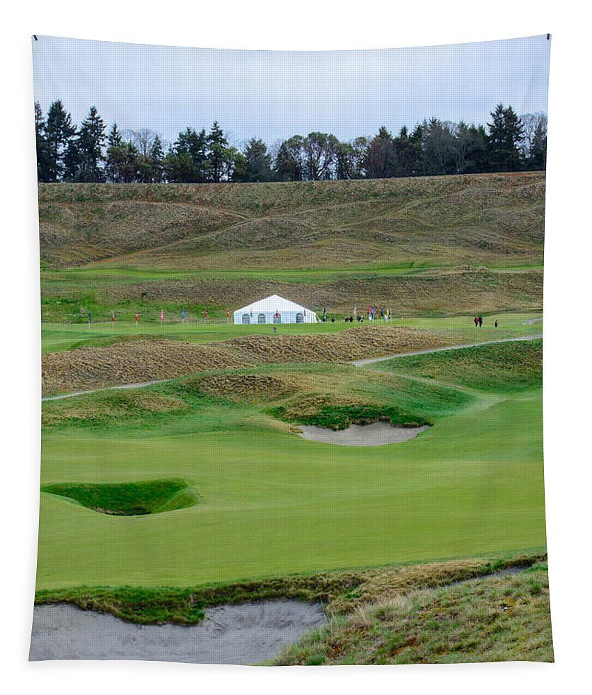 Golf Tapestry featuring the photograph Chambers Bay Golf Celebration by Tikvah's Hope