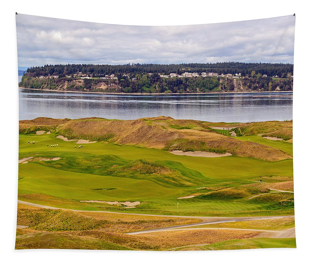 Chambers Bay Tapestry featuring the photograph Chambers Bay Golf Course IIi by Tikvah's Hope