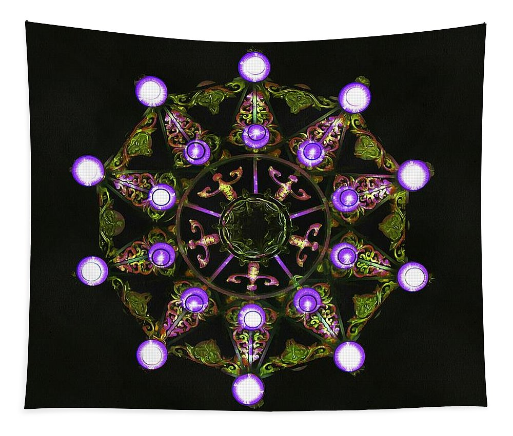 Chandelier Tapestry featuring the photograph Chandelier Kaleidoscope by Sergey Lukashin