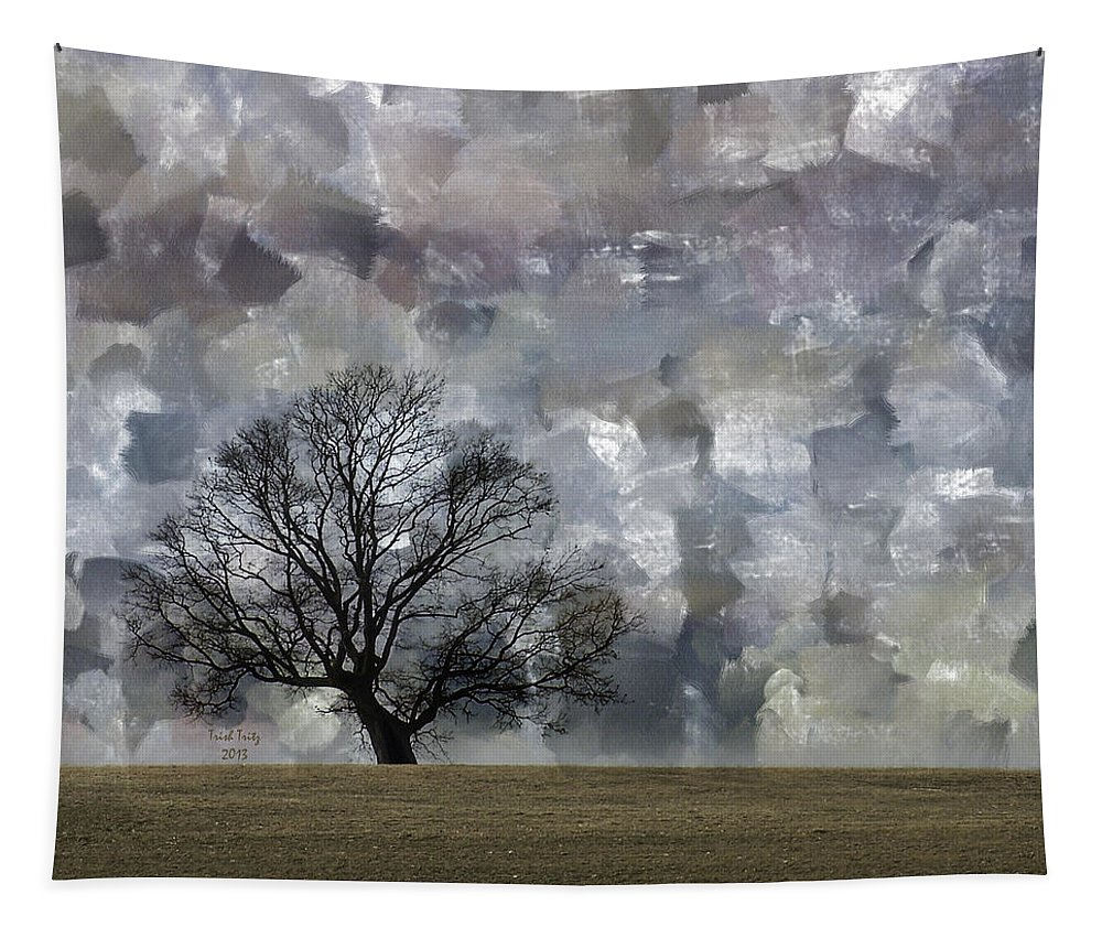 Tree Tapestry featuring the mixed media Change Is Gonna Come by Trish Tritz
