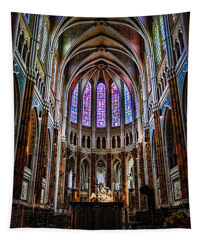 France Tapestry featuring the photograph Chartres by Olivier Le Queinec