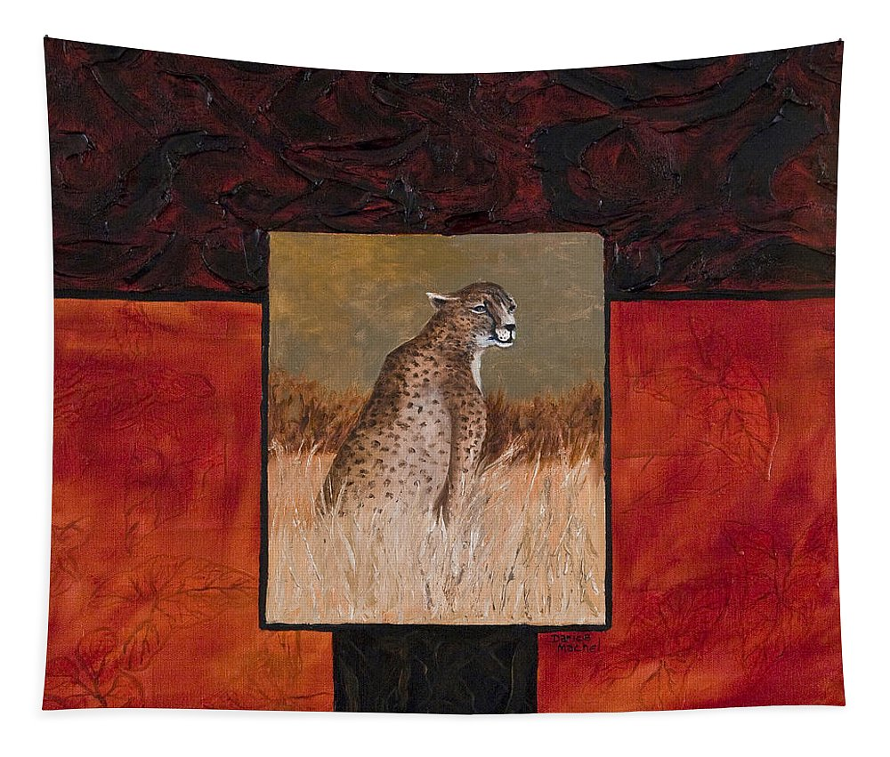 Animal Tapestry featuring the painting Cheetah by Darice Machel McGuire