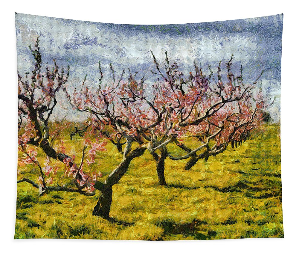 Cherries Tapestry featuring the photograph Cherry Trees 3.0 by Michelle Calkins