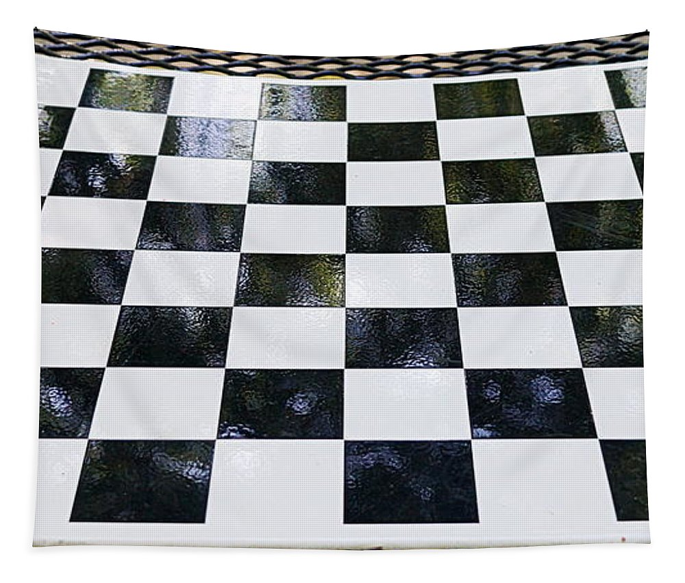 Chess Tapestry featuring the photograph Chess In The Park by Paul Wilford