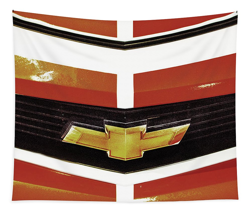 Chevrolet Tapestry featuring the photograph Chevy Camaro by Tom Gari Gallery-Three-Photography