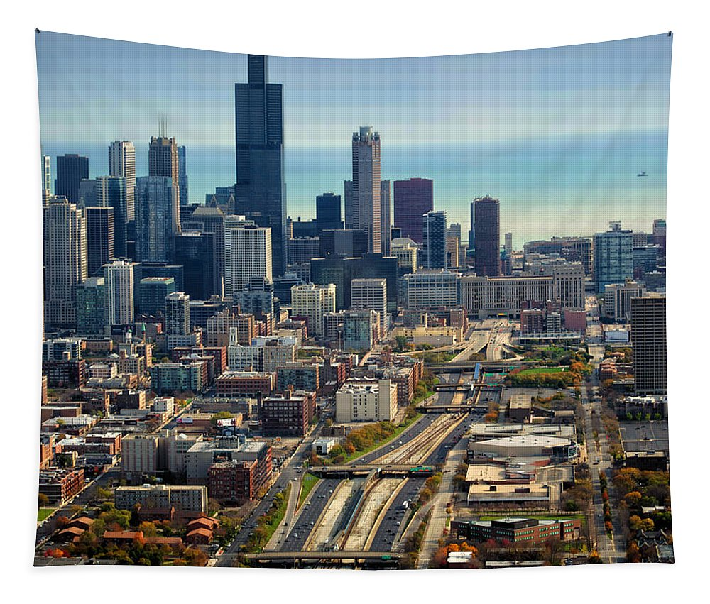 Cities Tapestry featuring the photograph Chicago Highways 06 by Thomas Woolworth