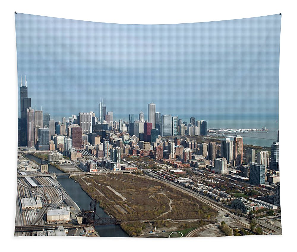Chicago Tapestry featuring the photograph Chicago Looking North 02 by Thomas Woolworth