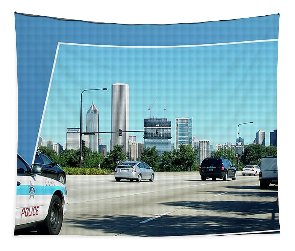 Chicago Tapestry featuring the photograph Chicago Pd by Thomas Woolworth
