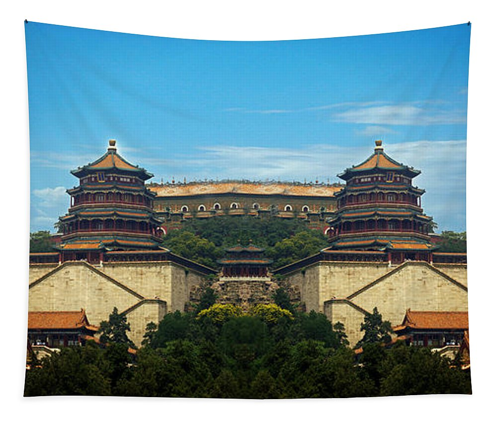 China Tapestry featuring the photograph China 7 by Ben Yassa