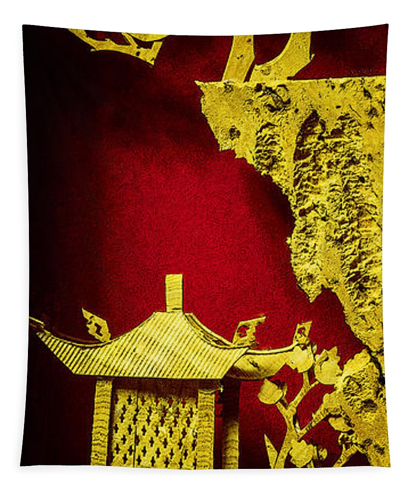 Chinese Tapestry featuring the photograph Chinese Cork Carving 2 by Robert Storost