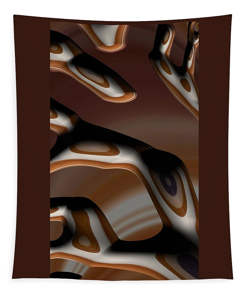 fractal Art fractal Design abstract Art abstract Photography Abstract Fractals Chocolate chocolate Bark Chocolat Tapestry featuring the photograph Chocolate Bark by Bill Owen