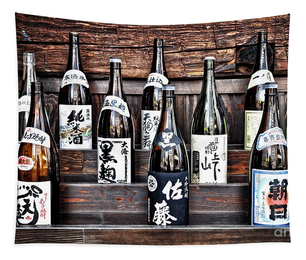 Sake Tapestry featuring the photograph Choice Of Sake by Delphimages Photo Creations