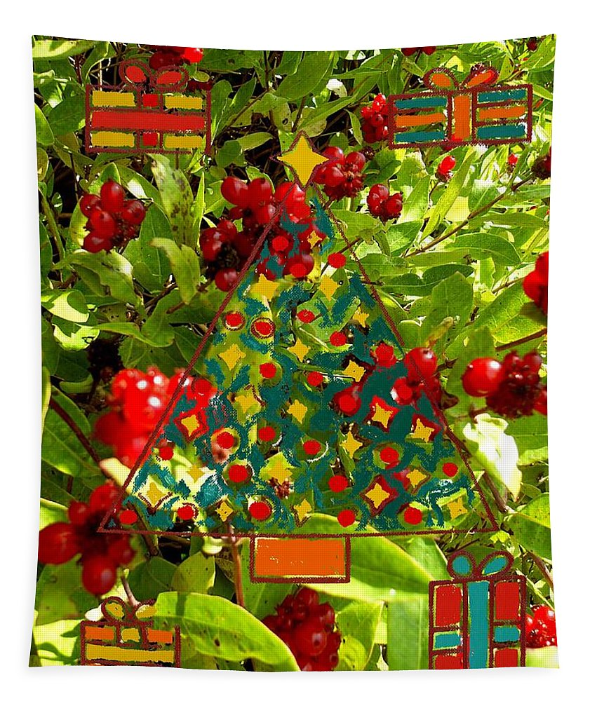 Fruit Tapestry featuring the photograph Christmas Berries by Patrick J Murphy