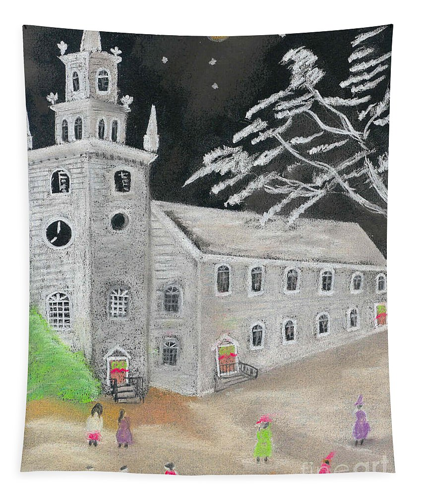Christmas Tapestry featuring the painting Christmas Eve by William Bowers