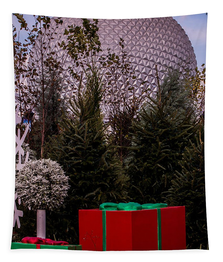 Christmas Tapestry featuring the photograph Christmas Gifts From Disney by Zina Stromberg