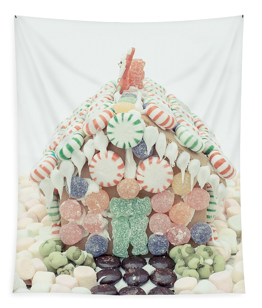 Christmas Tapestry featuring the photograph Christmas Gingerbread House by Edward Fielding