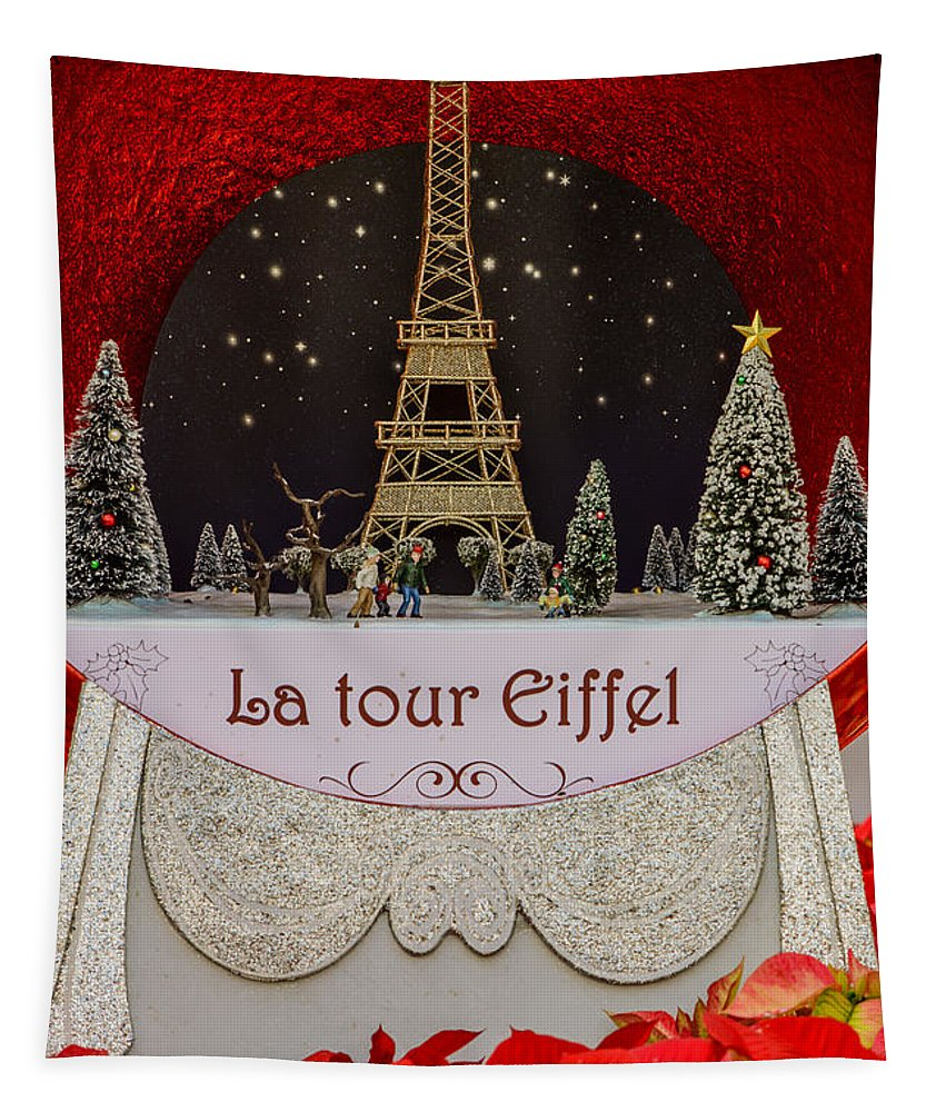 Christmas Tapestry featuring the photograph Christmas In Paris by Zina Stromberg