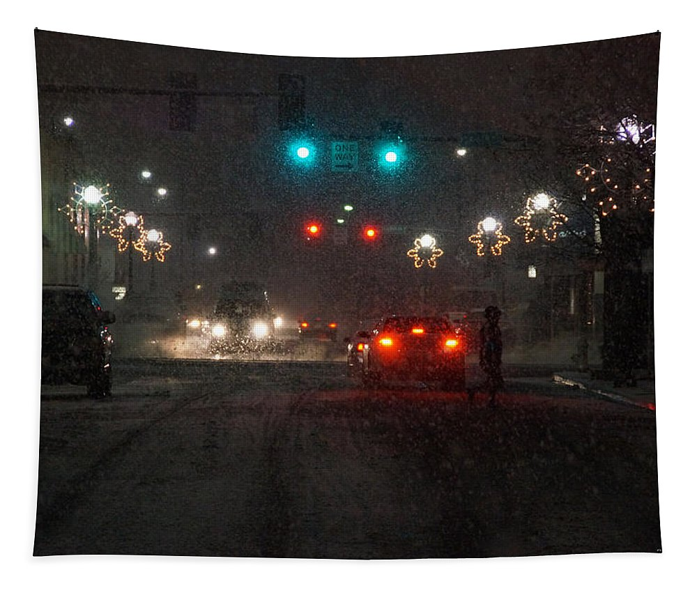 Grants Pass Tapestry featuring the photograph Christmas On The Streets Of Grants Pass by Mick Anderson
