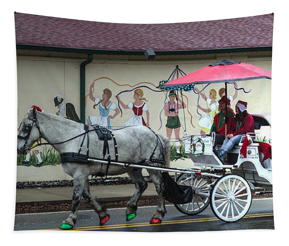 Santa Tapestry featuring the photograph Christmas Parade by Donna Brown