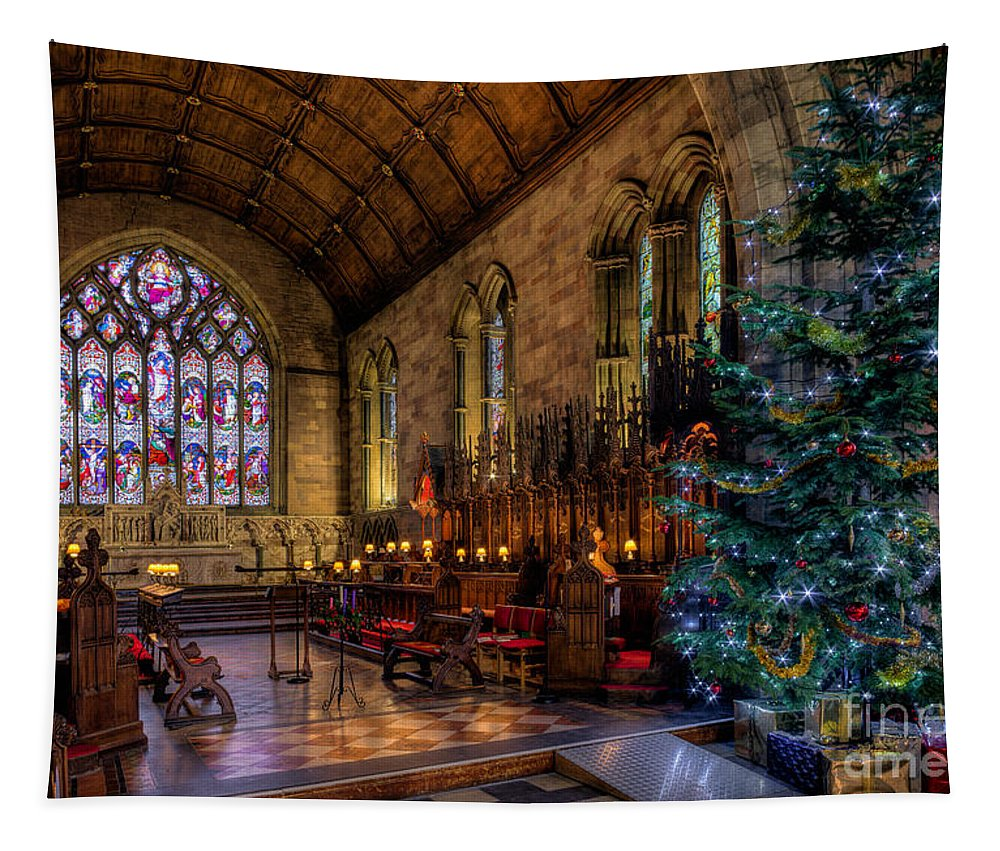 Christmas Tapestry featuring the photograph Christmas Time by Adrian Evans