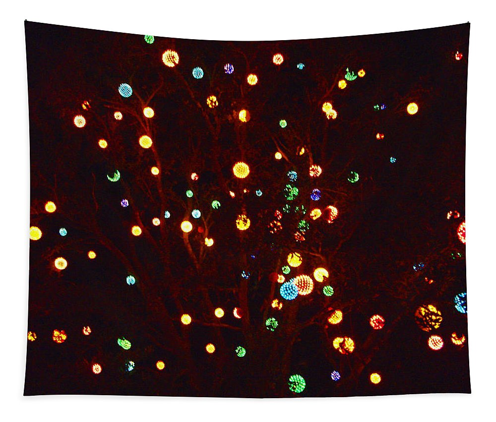 Photograph Tapestry featuring the photograph Christmas Tree Lights by Marian Bell