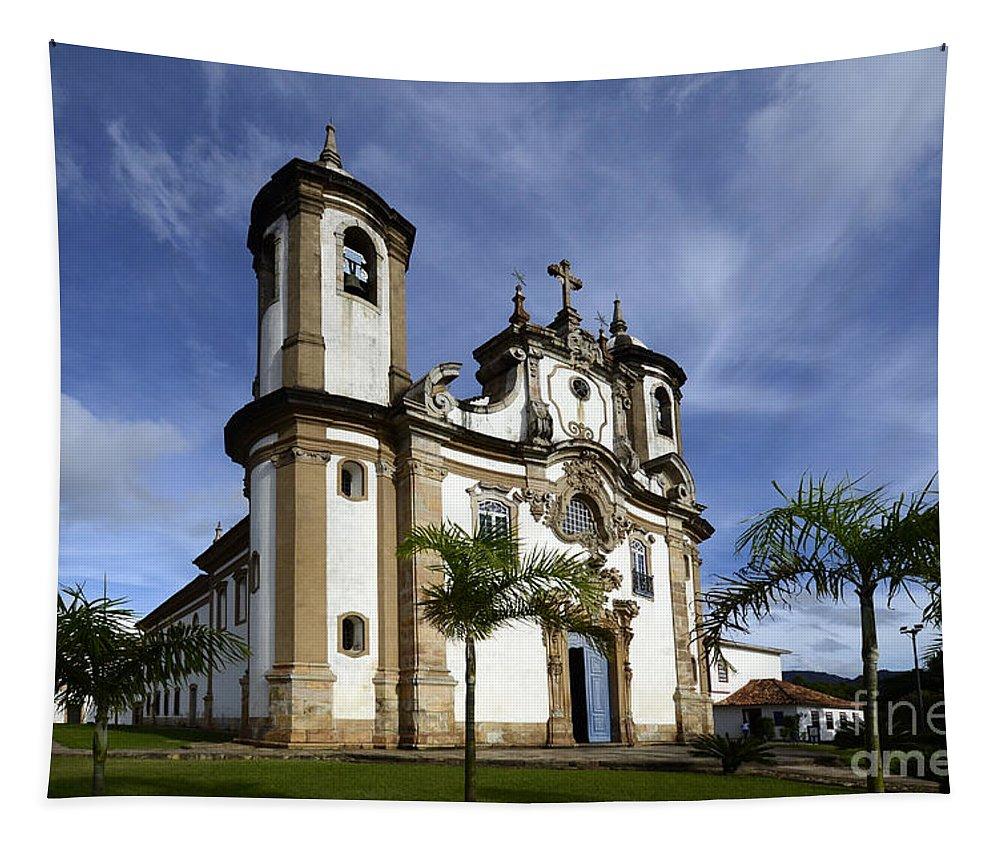 Ouro Preto Tapestry featuring the photograph Church Ouro Preto Brazil 5 by Bob Christopher